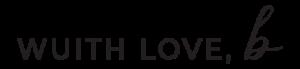 Wuith Love, B Logo