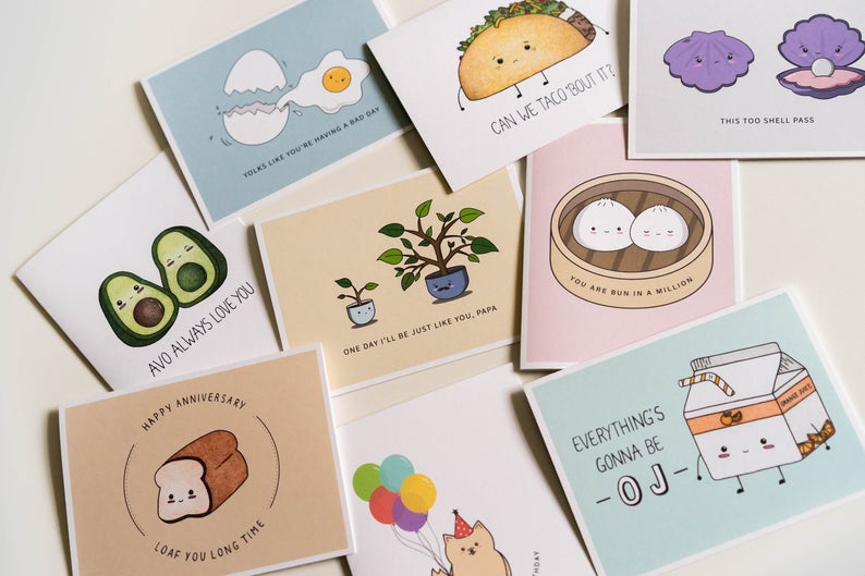 Wuith Love B: Cute + Playful Punny Greeting Cards