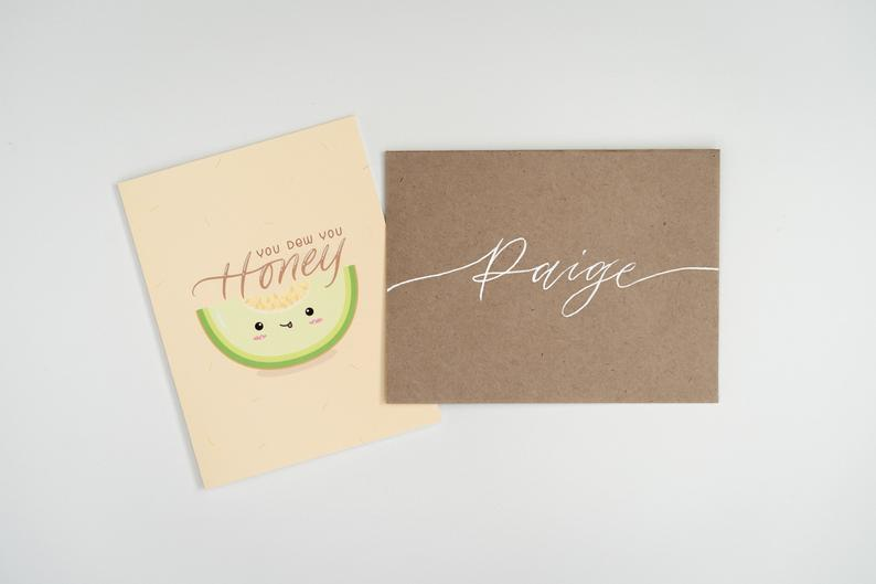 You Dew You, Honey: Customized Greeting Card With Handwritten Envelope Name
