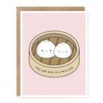 Bun In A Million: Anniversary / Love Asian Food Pun Greeting Card