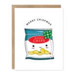 Merry Crispmas (Potato Chips): Punny Christmas Greeting Card