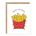 Merry Crispmas (French Fries): Punny Christmas Greeting Card