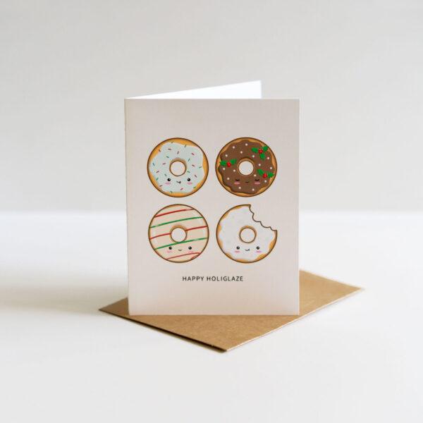 Happy Holiglaze: Punny Christmas Greeting Card