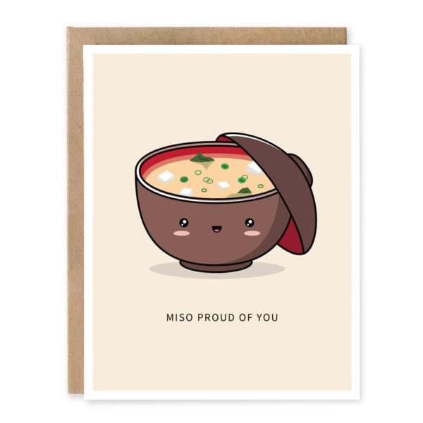 Miso Proud Of You: Graduation Punny Greeting Card