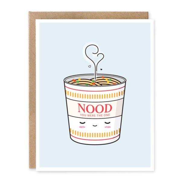 Nood You Were The One: Asian Food Pun Anniversary Greeting Card