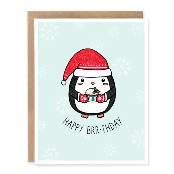 Happy Brr-thday: Christmas Punny Greeting Card