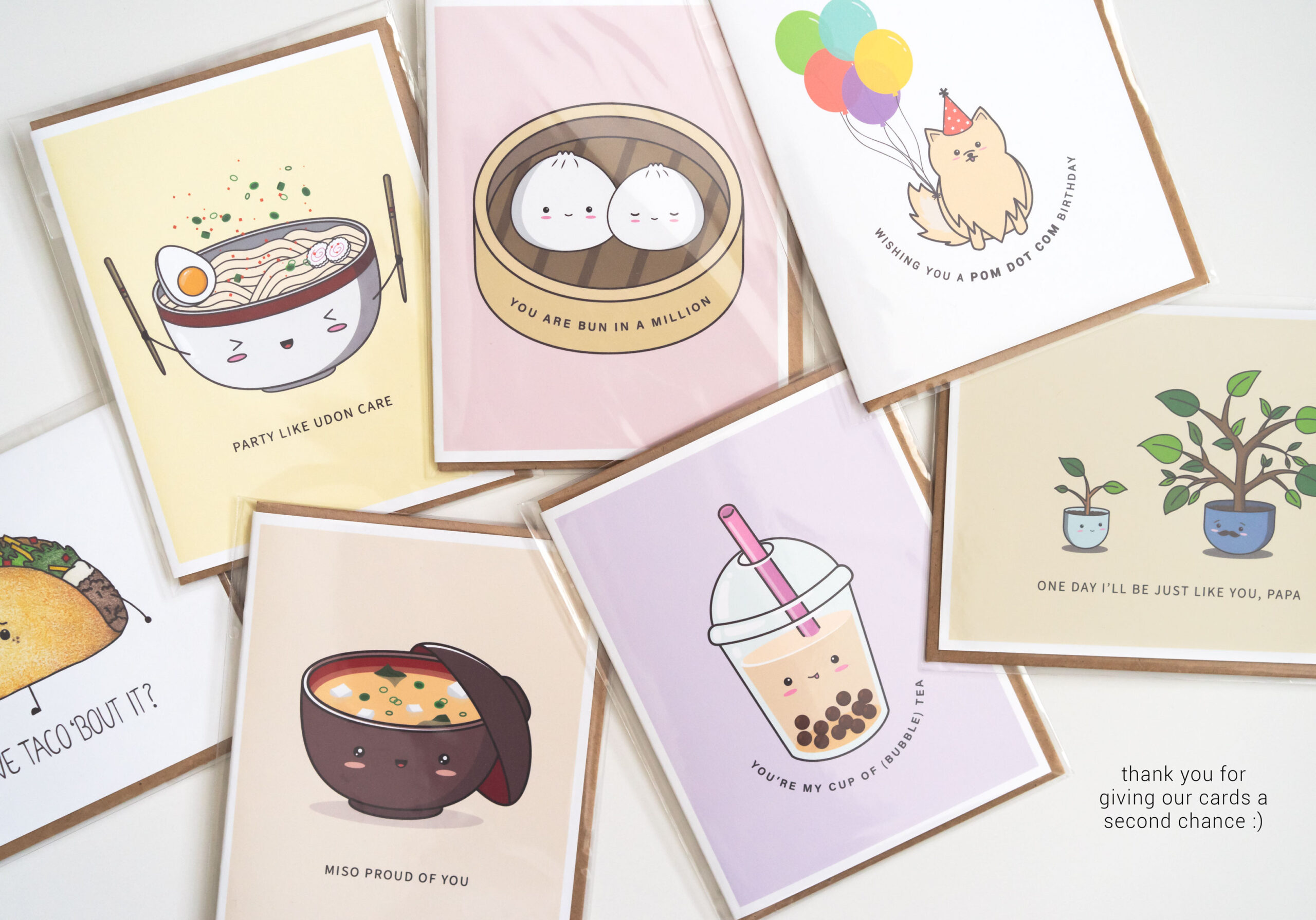 Seconds Sale: Examples Of Imperfections On Punny Greeting Cards