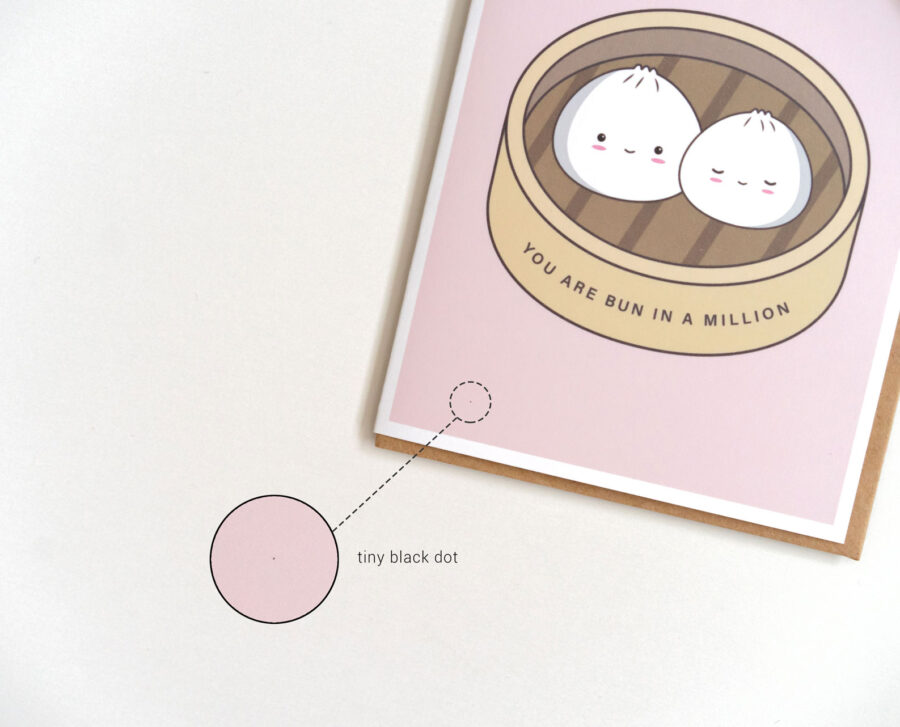 Seconds Sale: Example Of An Imperfection On A Greeting Card