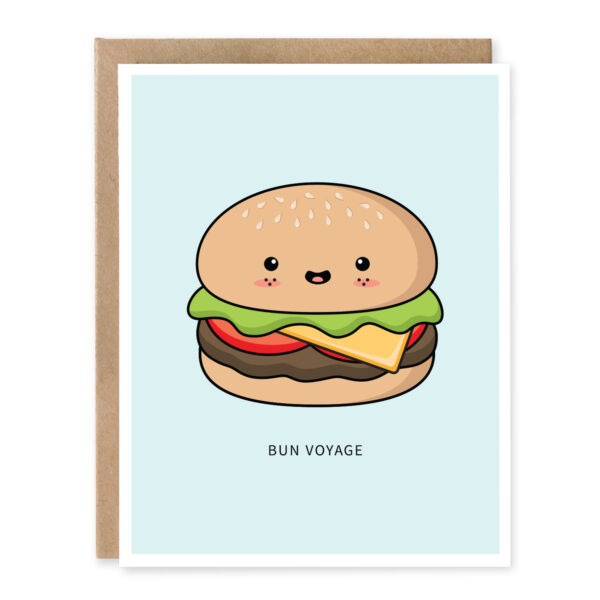 Bun Voyage: Best Wishes / Good Luck Punny Greeting Card