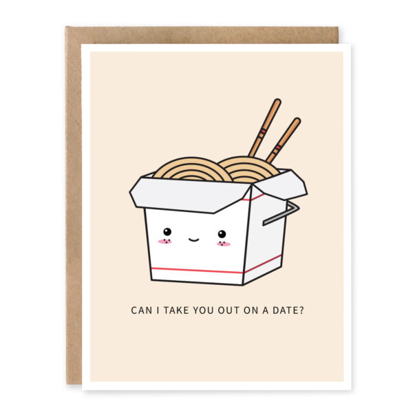 Can I Take You Out On A Date?: Asian Food Pun Anniversary Greeting Card