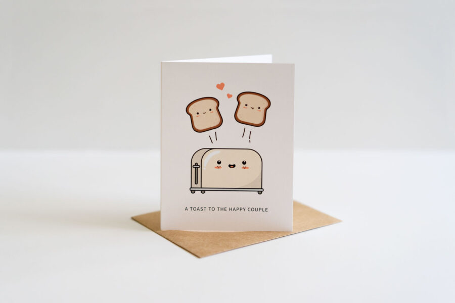 A Toast To The Happy Couple: Wedding / Engagement Punny Greeting Card
